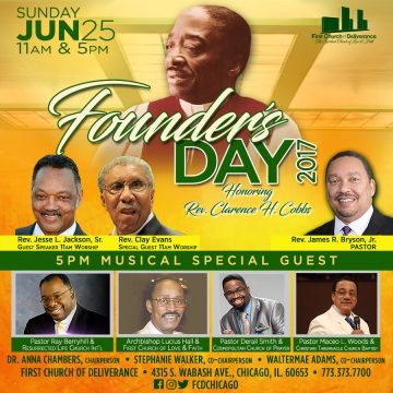 Founder's Day. Rev. Clarence H. Cobbs
